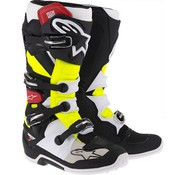 Alpinestars Tech 7 Boot Giallo Nero Bianco Rosso