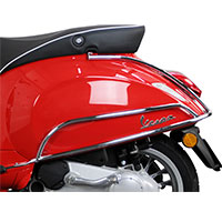 Chromed Rear Protection Bars Vespa