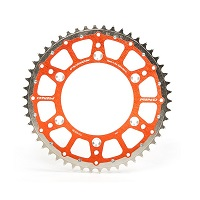 Innteck Racing Fusion Twin Ring Orange Rear Sprocket