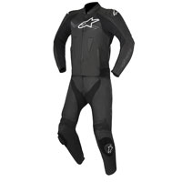 Alpinestars Challenger V2 2pc Leather Suit Black