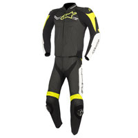 Alpinestars Challenger V2 2pc Leather Suit Black/white/fluo Yellow