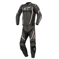 Alpinestars Motegi V2 2pc Leather Suit Black/white/red
