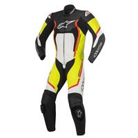 Alpinestars Motegi V2 Tuta 1pc Nero/bianco/giallo Fluo/rosso Fluo