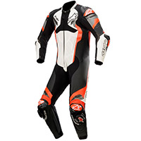 Alpinestars Atem V4 Leather Suit White Fluo Red