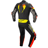 Alpinestars Atem V4 Leather Suit Red Fluo Yellow