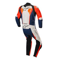 Tuta In Pelle Alpinestars Gp Force Arancio Blu