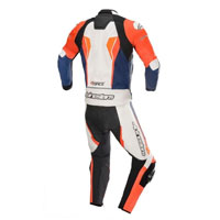 Tuta In Pelle Divisibile Alpinestars Gp Force 2pc Arancio Blu