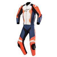 Alpinestars Gp Force 2pc Leather Suit Orange Blue