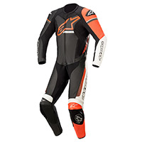 Traje Alpinestars Gp Force Phantom negro rojo fluo