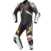 Alpinestars Gp Plus V3 Leather Suit Black Gold Red