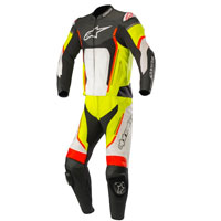 Alpinestars Motegi V2 2pc Leather Suit Fluo Yellow Red