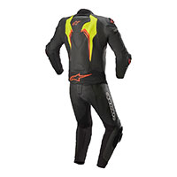Alpinestars Motegi V3 2pc Suit Black Yellow Fluo