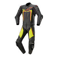Tuta 2pc Alpinestars Motegi V3 Nero Giallo Fluo