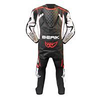 Tuta Intera Berik Racing T Nero Bianco Rosso Fluo