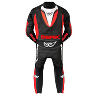 Traje Berik Supersport 2.0 negro rojo fluo blanco
