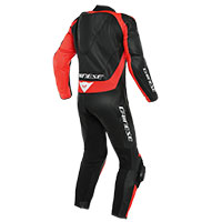 Dainese Assen 2 Perforated 1pc Suit Black Red