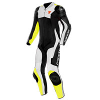Dainese Assen 2 Perforated 1pc Suit White Yellow
