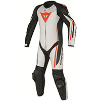 Dainese Assen Perforated Race Suit White