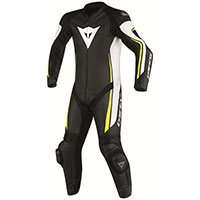 Dainese Assen Perforated Race Suit Black Yellow