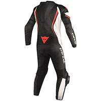 Dainese Assen Perforated Race Suit Red Black