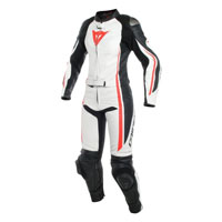 Dainese Assen Two Piece Women's Race Suit White Red