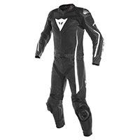 Dainese Assen 2 Pieces Perforated Leather Suit Black White