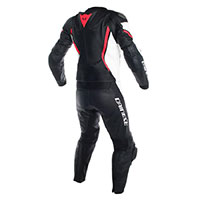 Dainese Assen 2 Pieces Perforated Leather Suit White Black Red