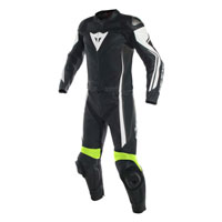 Dainese Assen Two Piece Race Suit Yellow