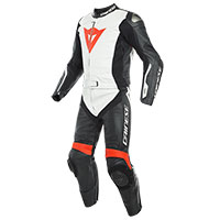 Dainese Avro D-air 2pcs Suit White Red