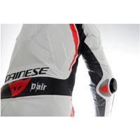 Dainese Mugello R D-air® Lederkombi Weiß-rot-schwarz - 4
