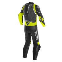 Dainese Laguna Seca 4 Perforated Race Suit Black Yellow