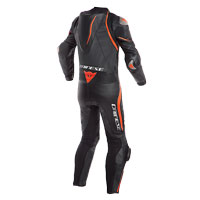 Dainese Laguna Seca 4 Perforated Race Suit Nero Rosso