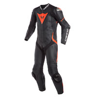 Dainese Laguna Seca 4 Perforated Race Suit Black Red