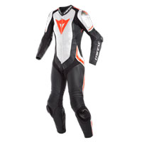 Dainese Laguna Seca 4 Perforated Race Suit Lady Bianco Rosso Donna