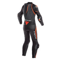 Dainese Laguna Seca 4 Perforated Race Suit Lady Black Red