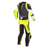 Dainese Laguna Seca 4 Perforated Suit White Yellow - 2