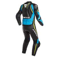 Dainese Laguna Seca 4 2pcs Suit Black Blue Fluo Yellow