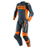Dainese Mistel 2pcs Leather Suit Black Orange