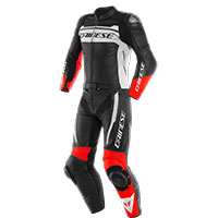 Dainese Mistel 2pcs Leather Suit White Black Red