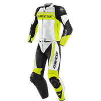 Dainese Mistel 2pcs Leather Suit White Yellow