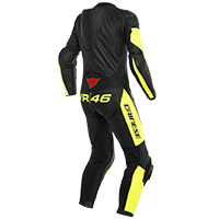 Dainese Vr46 Tavullia Perforated Suit Black Yellow