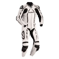 Ixon Leather Suit Pulsar Junior White Black Silver Kid