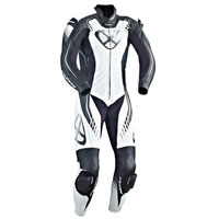 Ixon Leather Suit Starbust Black White Silver