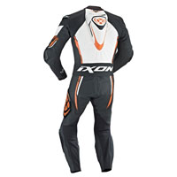 Ixon Leather Suit Vortex Black White Orange