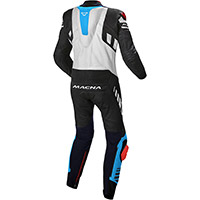 Macna Tracktix 1pc Suit Black Blue