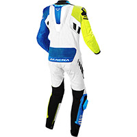 Macna Tracktix 1pc Suit White Yellow Blue