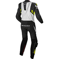 Macna Tracktix 1pc Suit Black White Yellow