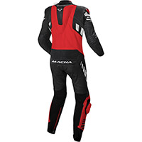 Macna Tracktix 1pc Suit Black Red