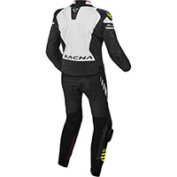 Macna Tracktix 2pcs Suit Black White Yellow