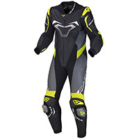 Macna Voltage 1pc Suit Black Grey Yellow